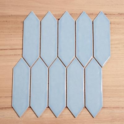 Light Blue Arrow Mosaic - Rippled Gloss Finish