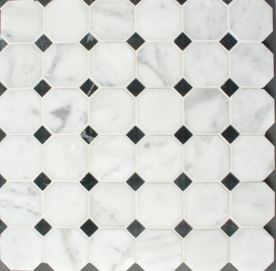 Carrara Octagon and Dot Mosaic