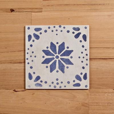 Antigua Blue Wall and Floor tile 205x205mm
