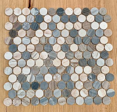 Blue Sandstone Penny Round 23mm Mosaic Tile