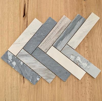 Blue Sandstone Herringbone Mosaic Tile