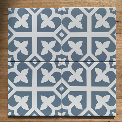 Bloom Wall and Floor Tile in Baby Blue