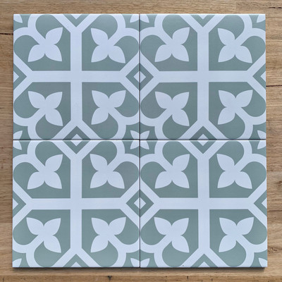 Bloom Wall and Floor Tile in Pale Green