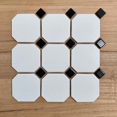 Octagon and Dot Mosaic Tile 95mm - Porcelain