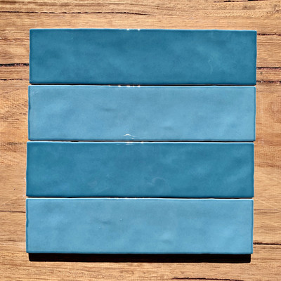 Casablanca Sky Blue Subway Tile 242x58mm