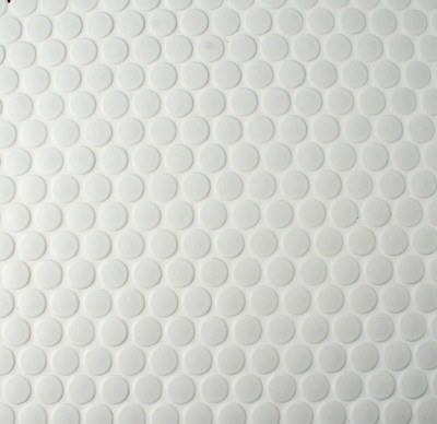 White Penny Round Mosaic Tiles 19mm - Matt Finish