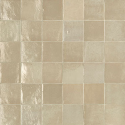 Sample of Zellige Sand Gloss Wall Tile  100x100mm