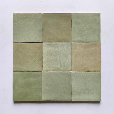 Sample  of Zellige Salvia Gloss Wall Tile