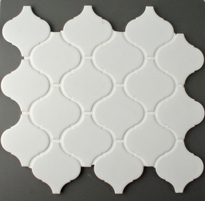 Arabesque White Matt Porcelain Mosaic