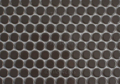 Cappucino Gloss Porcelain Penny Round Mosaic tile