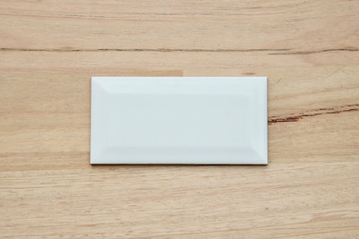 150x75mm Matt White Non Rectified Subway Tile