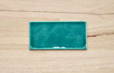 Mid Green Craquelle Subway Tile