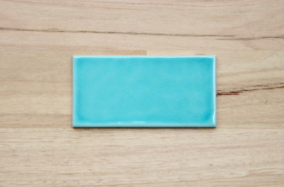 Aqua Green Craquelle Subway Tile