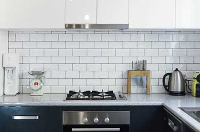 150x75mm White non rectified white tile