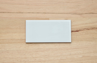 White Gloss Subway Tile 150x75mm