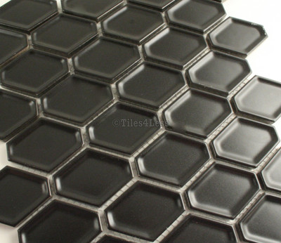 Matt Black Internal Honeycomb Mosaic 47x60mm