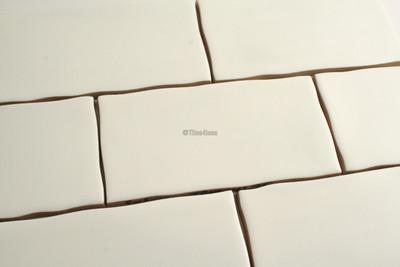 touch satin white subway wall tile