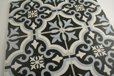 Tangiers Blue Wall and Floor Tile 200mm - Tiles4less