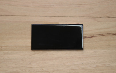 Black Gloss Non Rectified Subway Tile