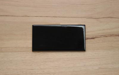 Black Gloss Non Rectified Subway Tile