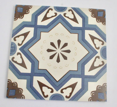 Aegean Blue Square Wall and Floor Tile 200x200mm