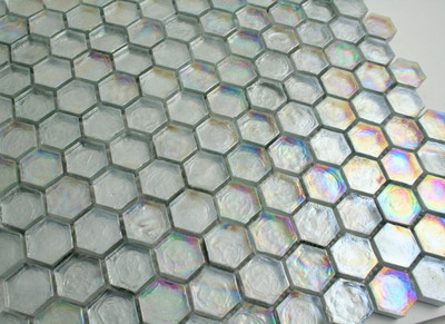 Glass Hexagonal Mosaic Tile 25mm