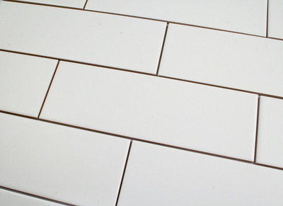Matt White Subway Wall tile 300x100mm