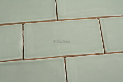 150x75mm Handmade style menta subway wall tile
