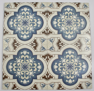 Sample of Aegean Blue Lantern Wall and Floor Tile 200x200mm