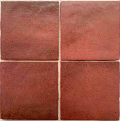 Sample of Madrid Burgundy Square Handmade Style Wall Tile 132x132mm