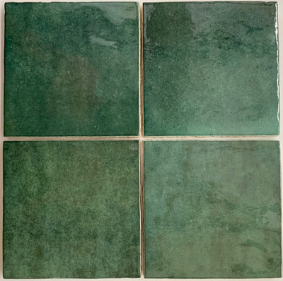 Olive Green Handmade Style Wall Tile 132mm