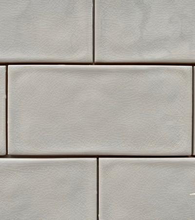 Sample of White Craquelle Subway Tile 150x75mm