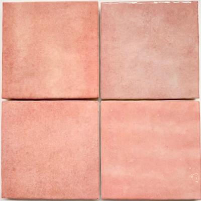 Sample of Onda Rose Handmade Style Tile 132x132mm