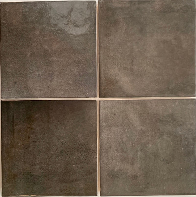 Carbon Grey Gloss Wall Tile 132mm