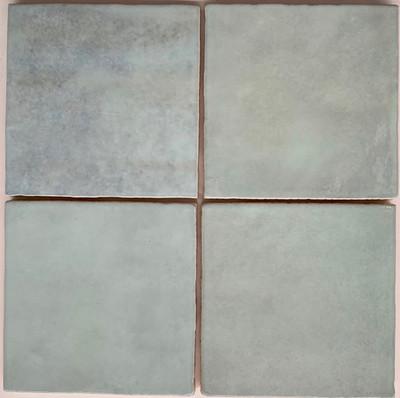 Sample of Onda Azure Blue Handmade Style Gloss Wall Tile