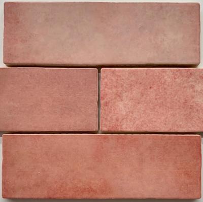 Sample of Onda Rose Gloss Subway Wall Tile 200x65mm