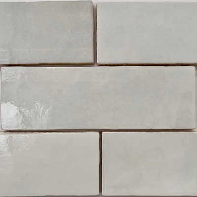 Onda White Handmade Style Wall Tile 200x65mm