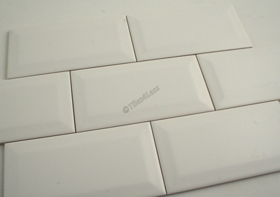 Matt White Bevel Edge wall tile