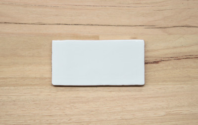 Barcelona White Gloss Subway Wall Tile 150x75mm