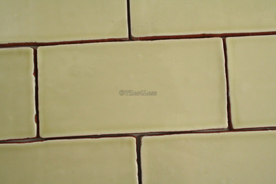 150x75mm Handmade style pistachio subway wall tile