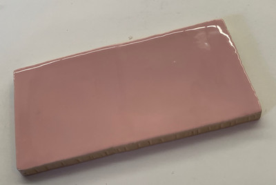 Handmade Style Rosa Pink Gloss Subway tile 150x75mm