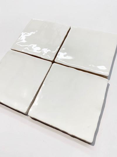 Sample of Barcelona White Gloss Wall Tile - 10x10cm