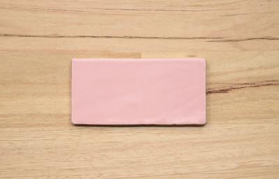 Sample of Rosa Pink Matt Wall Tile 150x75mm