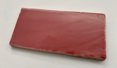 Hot Pink Matt Handmade Style Spanish Wall Tile 150x75mm