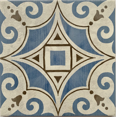 Boronia Blue 205mm Wall/Floor Tile