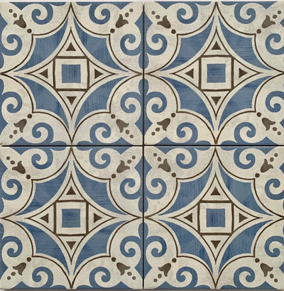 Boronia Blue  Floor/Wall Tile 205x205mm