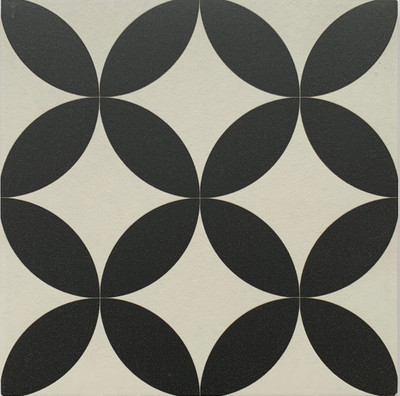 Prism Black Wall and Floor Tile 205mm