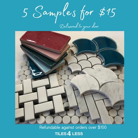 5 Samples for $15
