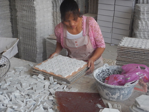 Carrara Marble Mosaic Production - See how they are made.