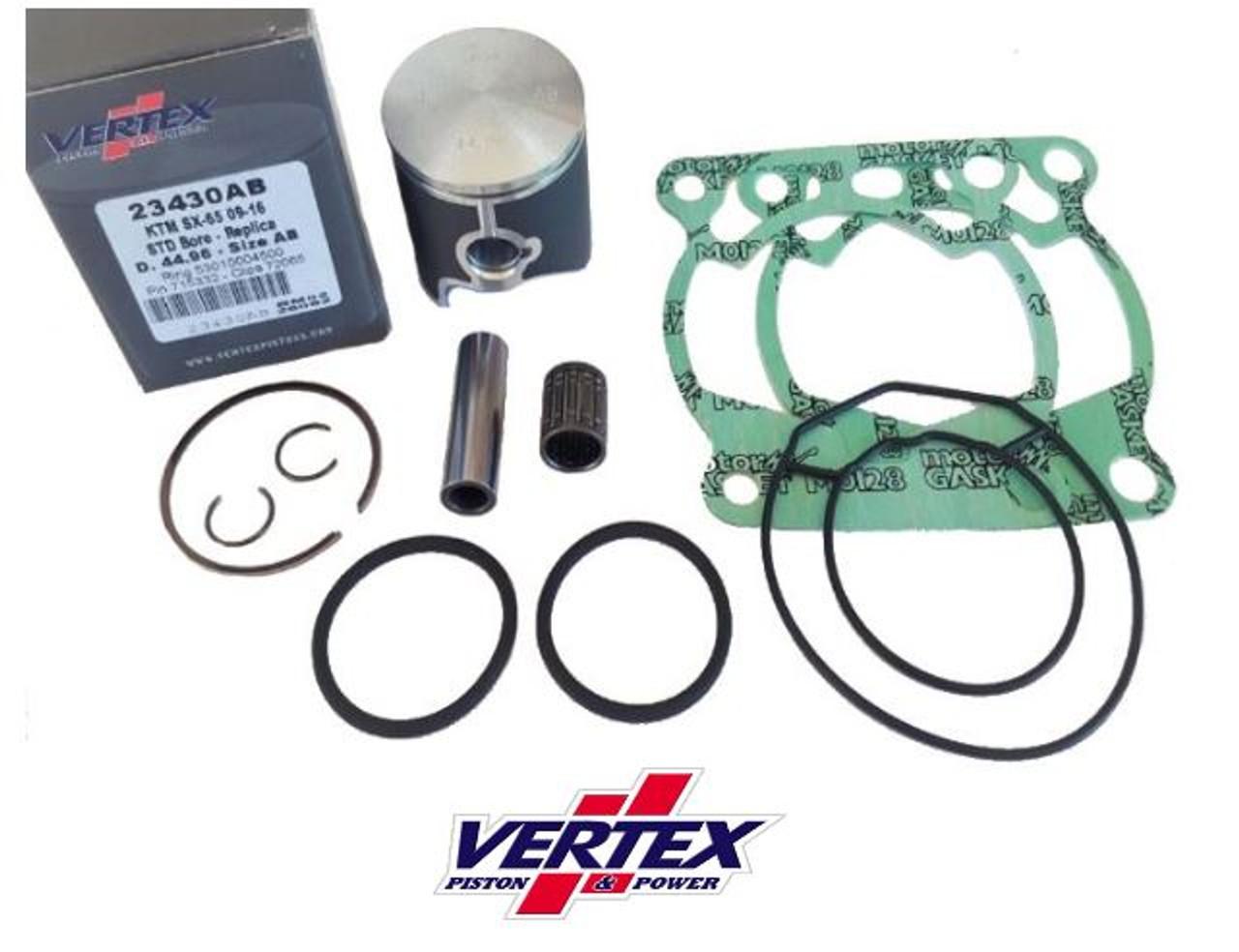 KTM 65 SX 2009-2022 TOP END ENGINE PARTS REBUILD VERTEX KIT 1